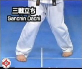 Karate: golpes de puño  Sanchin